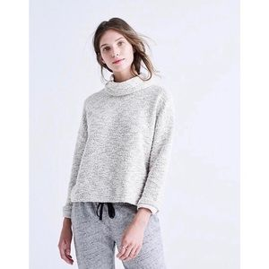 Madewell Marled Gray Pullover Turtleneck Sweater S